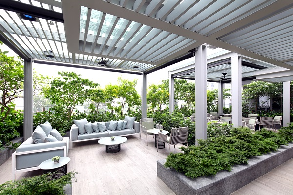"Fraser Residence Orchard - With the attention paid to landscaping works, Frasers wants their guests to feel as though they're ""in an oasis"" (Credit: Samuel Isaac Chua/ The Edge Singapore)"