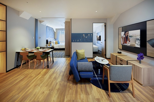The two-bedroom apartment comes with a separate living room (Credit: Ascott)
