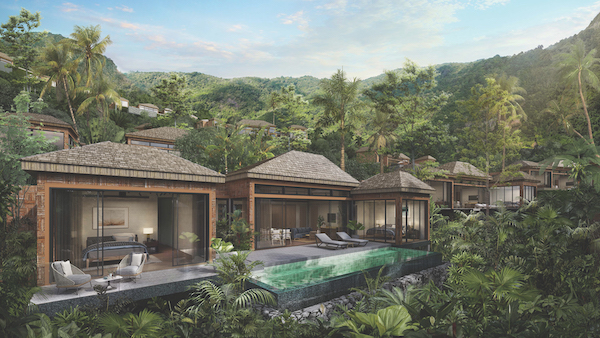 Otium Living - Set on a tropical hillside that is a protected nature reserve, Otium Phuket will be part of the larger MontAzure Resort, overlooking Kamala Beach on the west coast of the island (Credit: Otium Living)