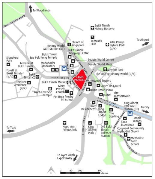 EDGEPROP SINGAPORE - The site at Jalan Anak Bukit (Credit: URA)