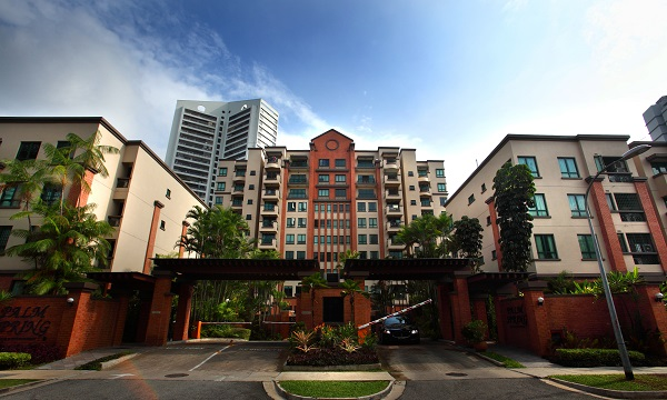The second top gain of the week – a 61% profit – was by a unit at Palm Spring, in District 10 (Credit: Samuel Isaac Chua/ EdgeProp Singapore)