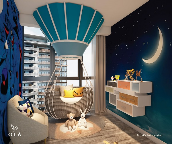 Artist impression of a bedroom at OLÁ (Credit: Anchorvale)