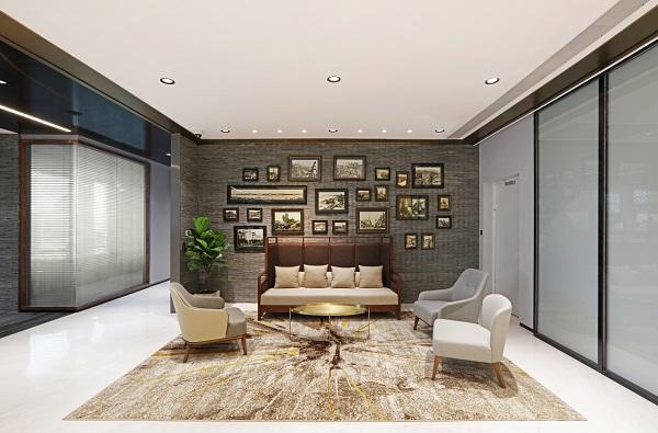 EDGEPROP SINGAPORE -  The reception lounge at Bund Finance Centre, Shanghai (Credit: Arcc Spaces) - EDGEPROP SINGAPORE