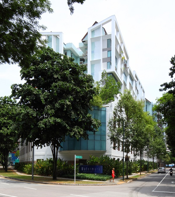 The seller of a unit at Watermark Robertson Quay, on Rodyk Street, made the top gain over the week of Feb 4 to 11 (Credit: Samuel Isaac Chua/ The Edge Singapore)