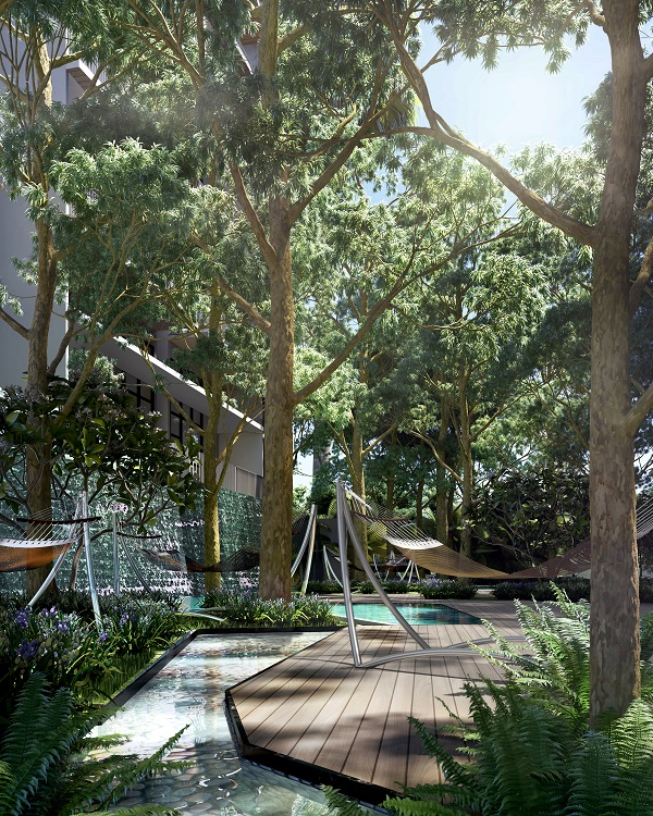 """DAINTREE RESIDENCE - The """"Rainforest Wing"""" will house a hammock bay that is surrounded by greenery - EDGEPROP SINGAPORE"""