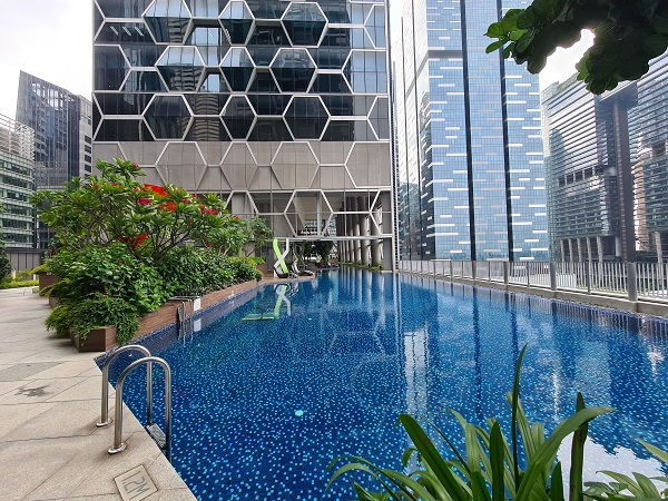 The pool at V on Shenton - EDGEPROP SINGAPORE