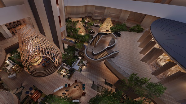 The overhaul of Parkroyal Collection Marina Bay will see a core focus on greenery (Credit: Pan Pacific Hotels Group)