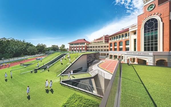 Park + Associates - The firm designed Nanyang Girls' High School around its existing structure (Credit: Edward Hendricks/ Park + Associates)