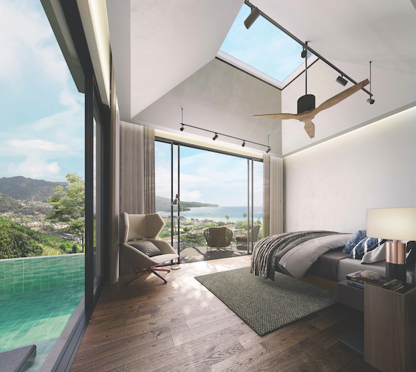 Otium Living - Skylights in the master bedroom allow natural light in (Credit: Otium Living)