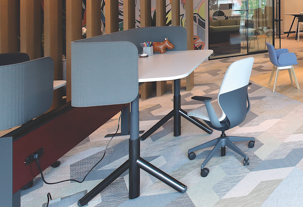Steelcase's furniture and accessories allow teams the flexibility to change how and where they work (Credit: Samuel Isaac Chua/ The Edge Singapore)