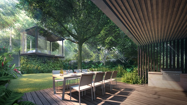 Residents can host barbeque parties at the dedicated facilities (Credit: Logan Property)