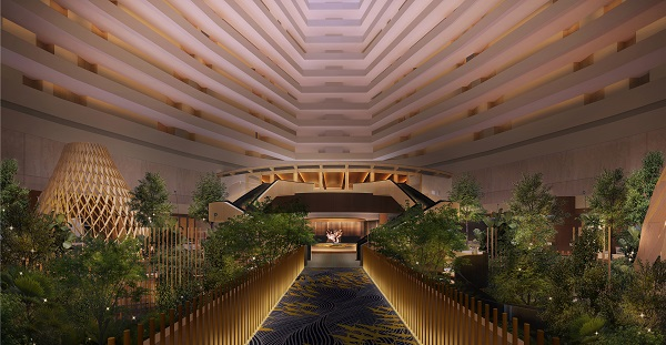 Trees will be planted on the first floor of the hotel atrium, and will reach as high as the fourth floor (Credit: Pan Pacific Hotels Group)