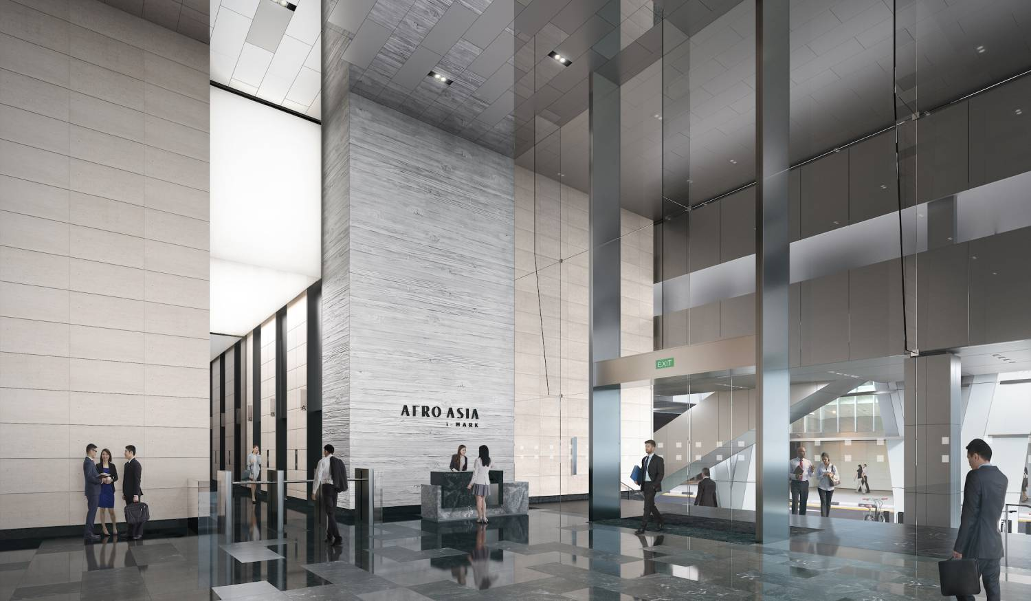 The lobby of the new building will have a ceiling height of 10m (Photo: Robinson Development)
