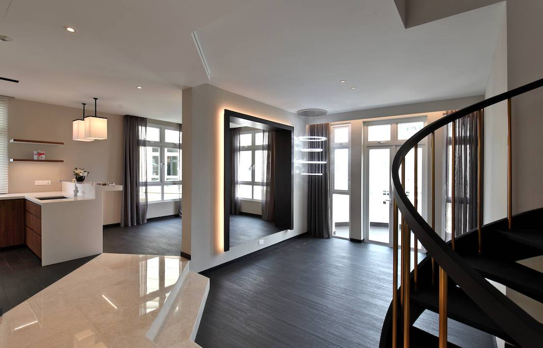 Chelsea Gardens Penthouse - The owners spent $600,000 to engage Design Intervention, an award-winning interior design firm, for the refurbishment