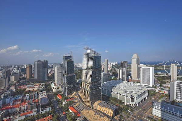 South Beach, where anchor office tenants include Facebook, Expedia and Rabobank; and where 119 of 190 units at South Beach Residences has been sold since its launch in September 2018 [Photo: Samuel Isaac Chua/EdgeProp Singapore]