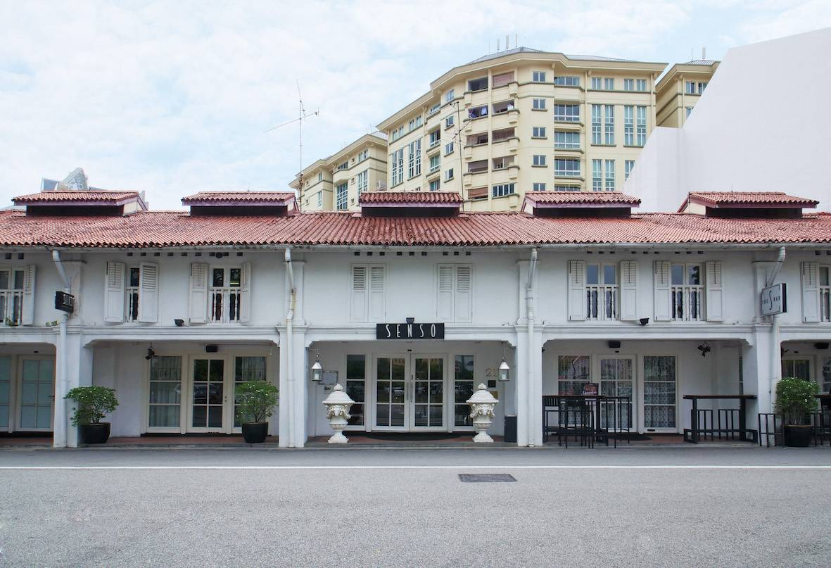 The shophouses along Club Street where Italian restaurant Senso had occupied for 19 years before closing in April 2019. The units are now occupied by UFit which opened its flagship integrated fitness hub (Photo: Jean Yip Group)