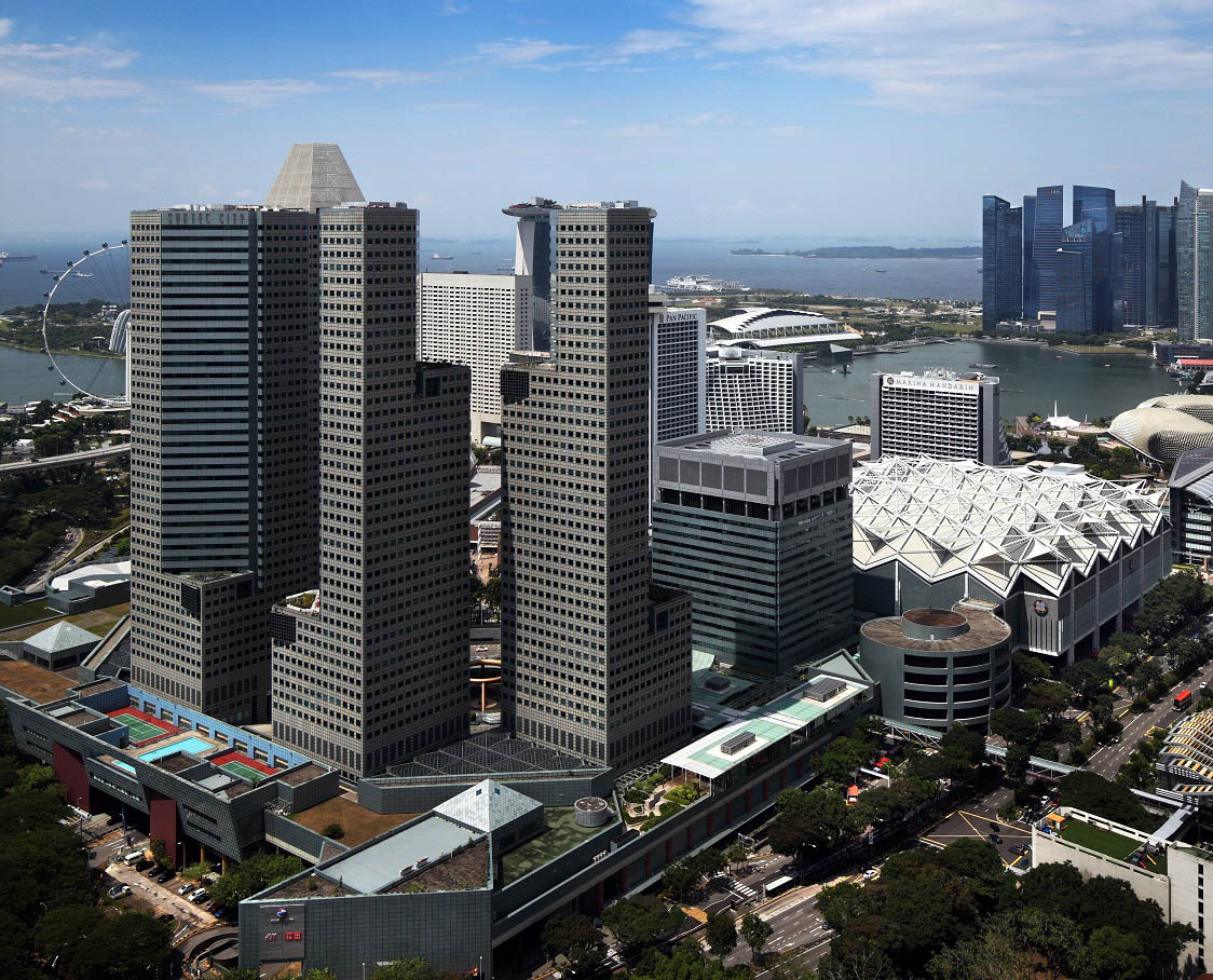 Suntec City office towers and the Suntec City Convention and Exhibition Centre (Photo: Samuel Isaac Chua/EdgeProp Singapore)