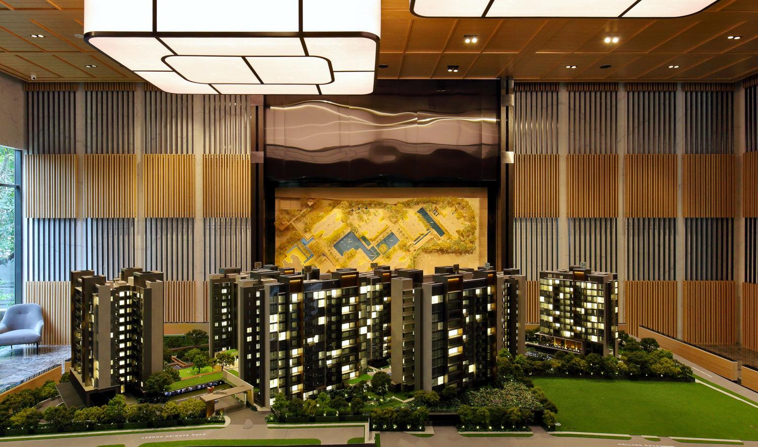 Leedon Green scale model - EDGEPROP SINGAPORE