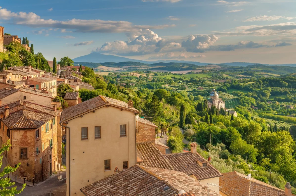 Landscape of the Tuscany seen from the walls of Montepulciano, Italy. Photo: Shutterstock Images