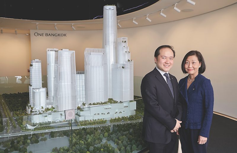 One Bangkok - Panote Sirivadhanabhakdi (left), Group CEO, Frasers Property Limited and Soon Su Lin (right), CEO - Development, One Bangkok, at the unveiling of the masterplan for One Bangkok