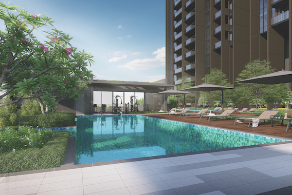 Pullman Residences facilities - The 50m swimming pool, gym and club lounge are some of the amenities provided