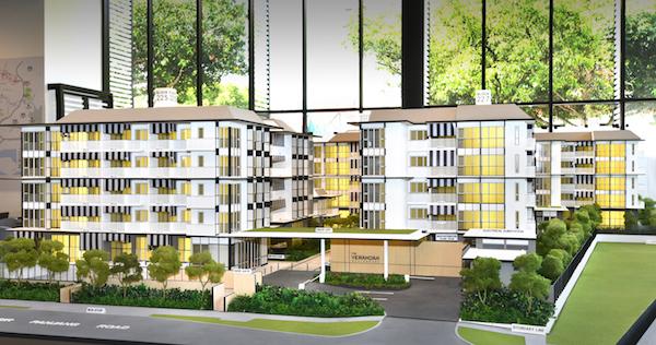 The Verandah Residences - Verandah scale model