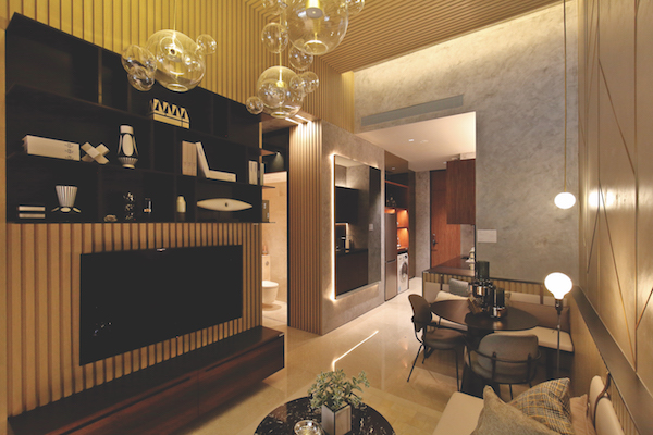 Pullman Residences showflat - The show unit of a 667 sq ft, two-bedroom unit at Pullman Residences Newton - EDGEPROP SINGAPORE
