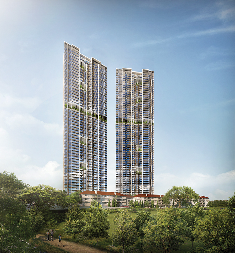 Avenue South Residence - Fifty-six-storey twin towers soar with elegant monumentality over the city