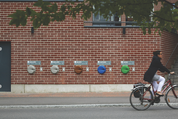 Automated pipe collecting system - Kalasatama's automated pipe collecting system encourages recycling (Photos: City of Helsinki) - EDGEPROP SINGAPORE
