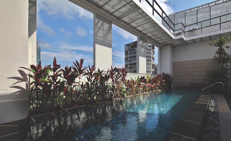 ST REGIS RESIDENCES - The unit also has a swimming pool on the upper floor - EDGEPROP SINGAPORE