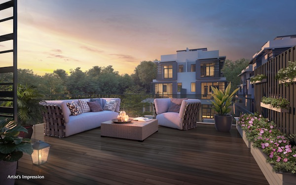 LUXUS HILLS Rooftop - Built for multi-generational living, each home comes with wide balconies, rooftop gardens and open terraces