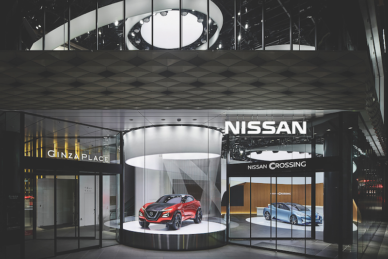 The Nissan Crossing Experience Center in Ginza, Tokyo, showcases the driving experience to customers (Credit: Eight Inc) - EDGEPROP SINGAPORE