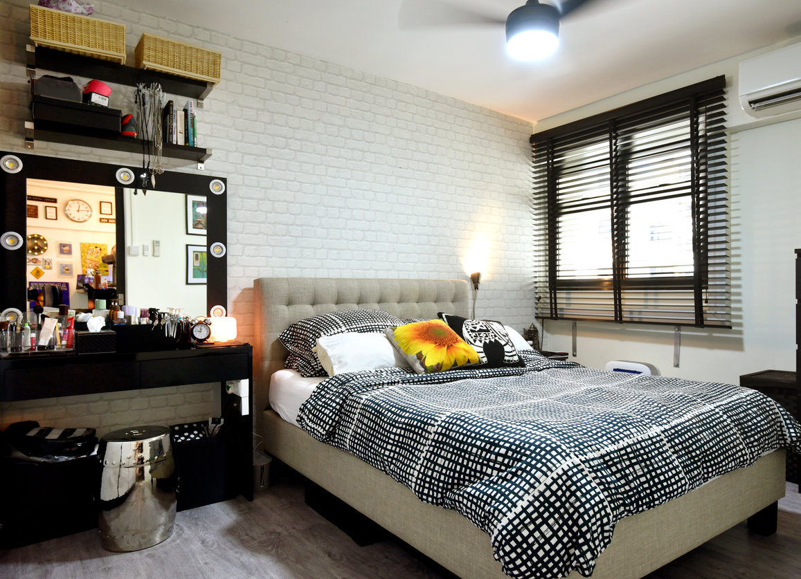 The walls of one of the bedrooms had been torn down to expand the living room, and another bedroom was converted into an office space, leaving one bedroom in the unit. - EDGEPROP SINGAPORE