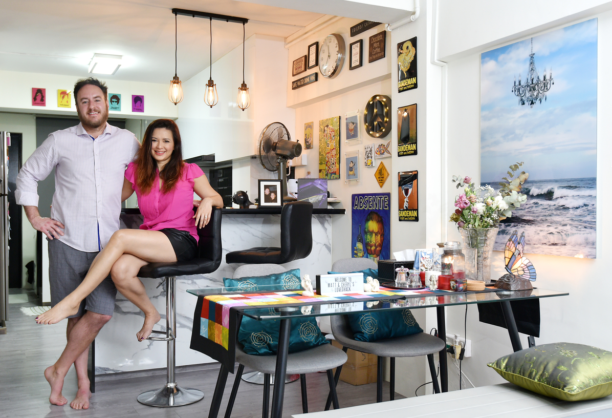 Matthew moved in with his Singaporean fiancé, Cheryl Miles, radio deejay and senior presenter at ONE FM 91.3 in June 2017. - EDGEPROP SINGAPORE