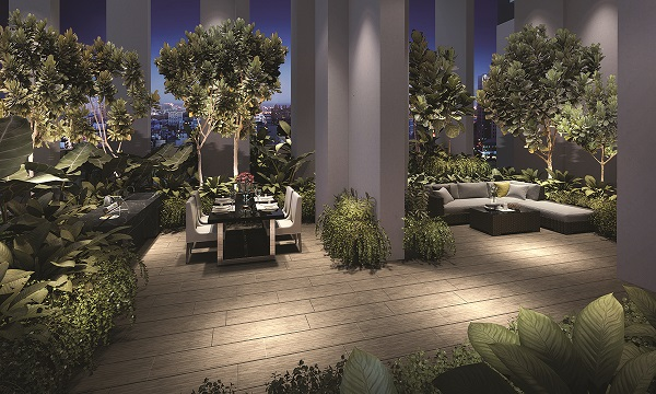 Residents can hold intimate al-fresco parties, with sweeping views across the Thomson and Novena enclave (Image: Artist's Impression)