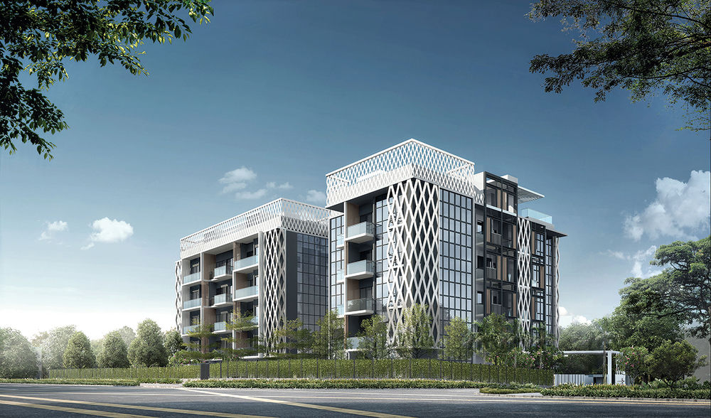 An artist impression of Lattice One, a new 48-unit, freehold development by TEE Land