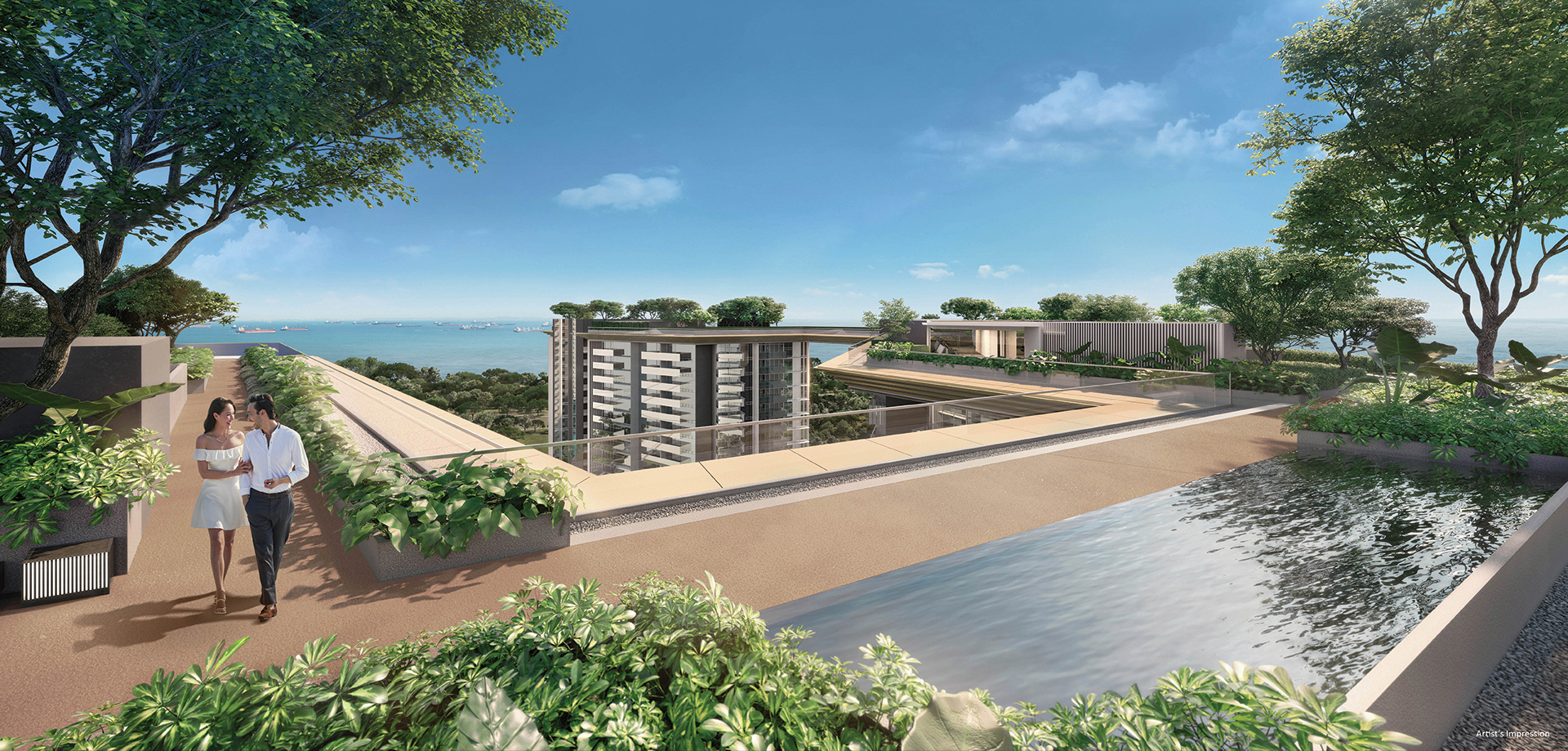 Amber Park - The Stratosphere links all three towers with a 600m purpose-built EPDM jogging track, where residents can enjoy panoramic sea views