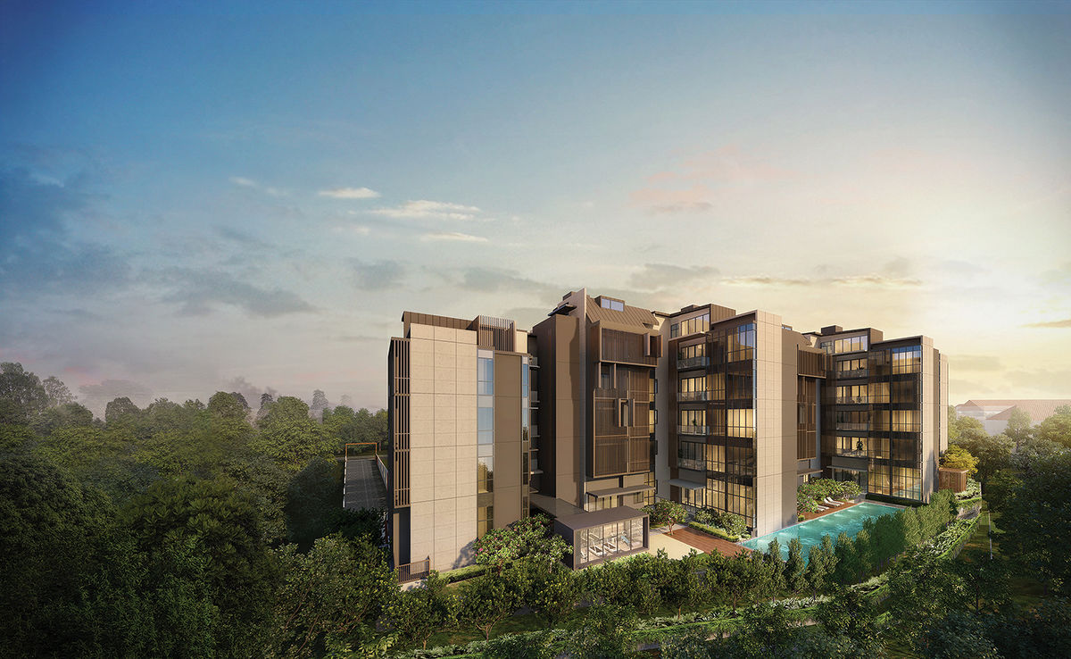An artist impression of 35 Gilstead. The freehold development is close to Newton MRT station, and is surrounded by low-rise housing estates