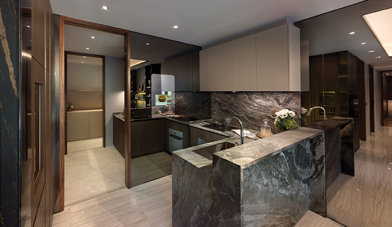 Kitchens in the units at Leedon Green are equipped with luxurious fittings (Image: Artist's Impression)