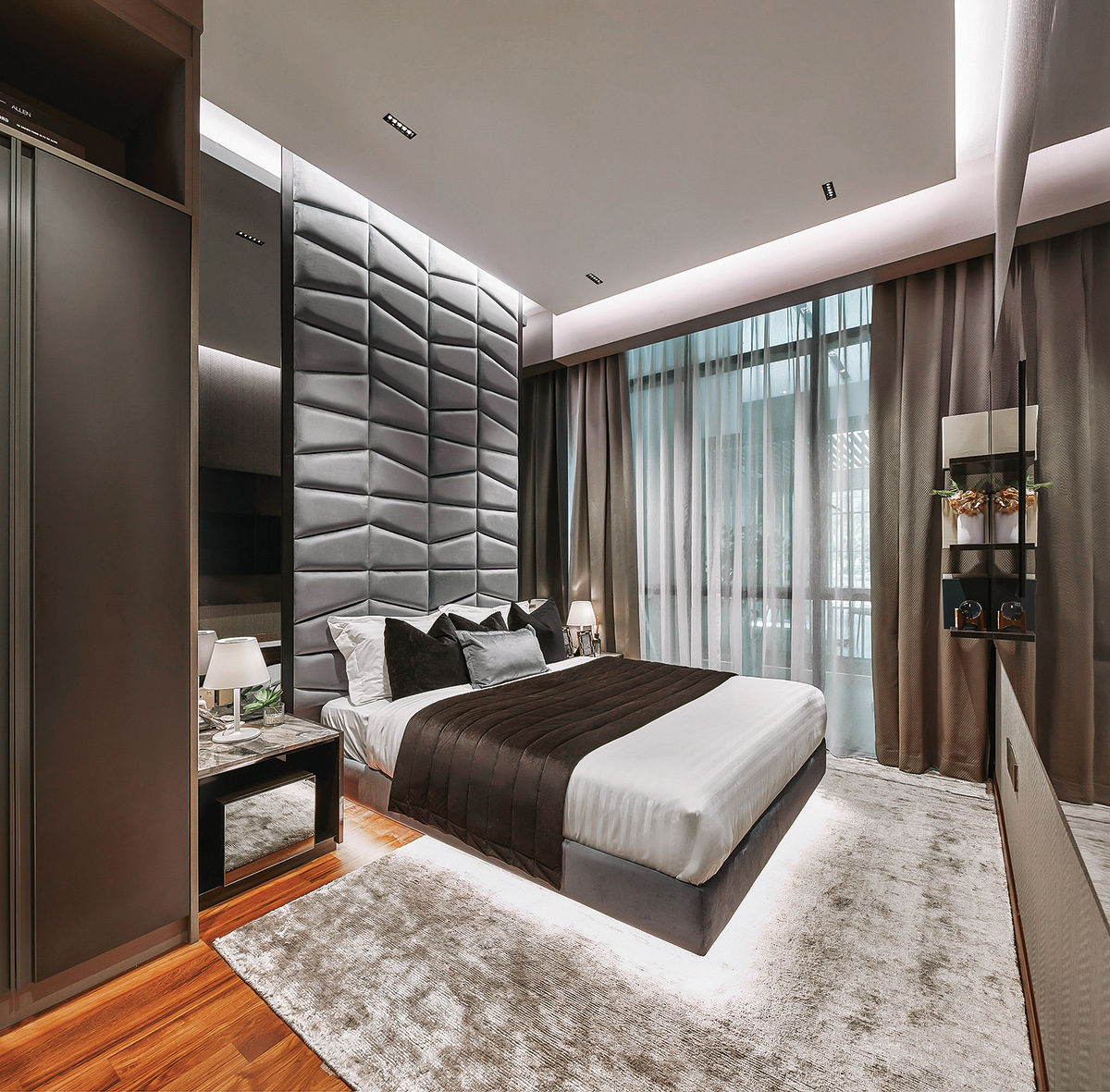 The condo comprises one-to three-bedroom units and five duplex penthouse units