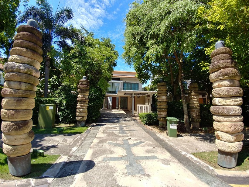 Exterior of Paradise Island bungalow that was put up for auction by Colliers International - EDGEPROP SINGAPORE