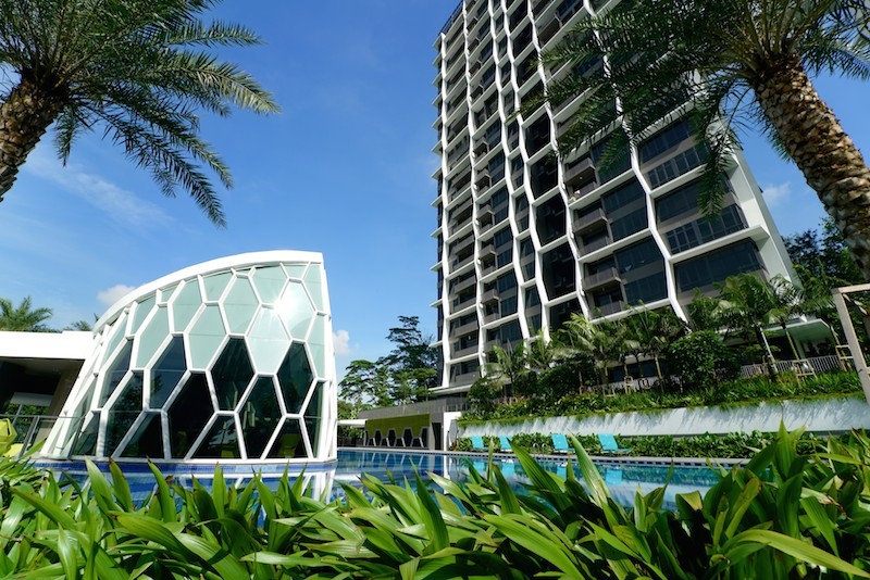 Eco Sanctuary's building coverage takes up a mere 14% of the development's land area; the remainder is used for landscaping and facilities - EDGEPROP SINGAPORE