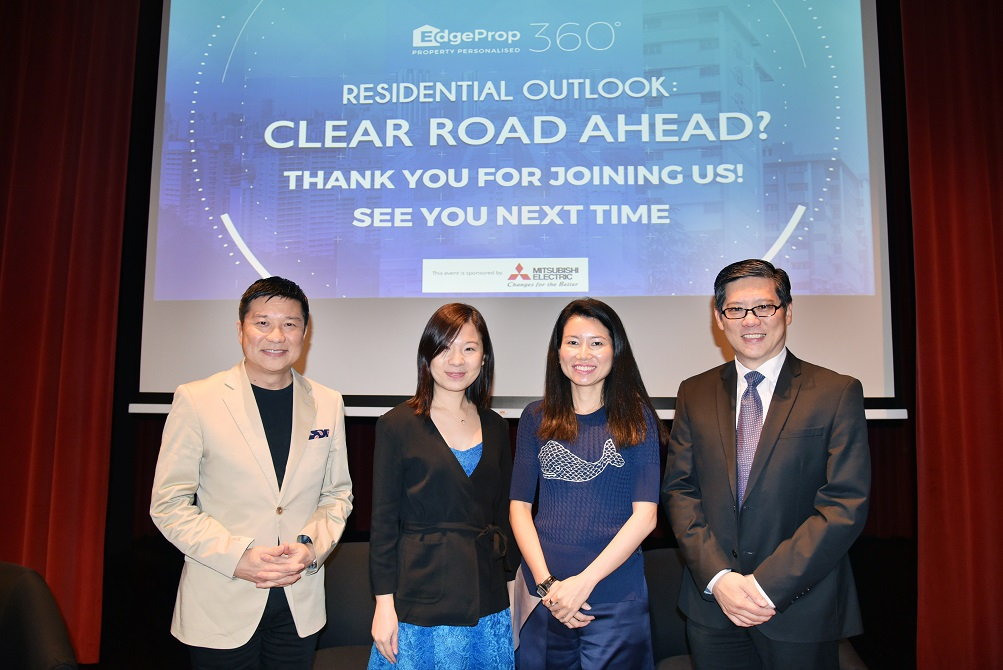 From left: Boon, who chaired the panel discussion; Sofian, Knight Frank's Tan and JLL's Tan