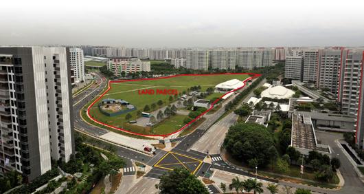 Aerial view of Sengkang Central site