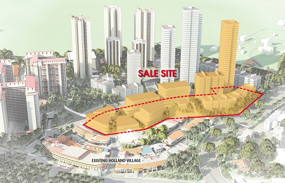 Artist's impression of first sale site at Holland Village Extension