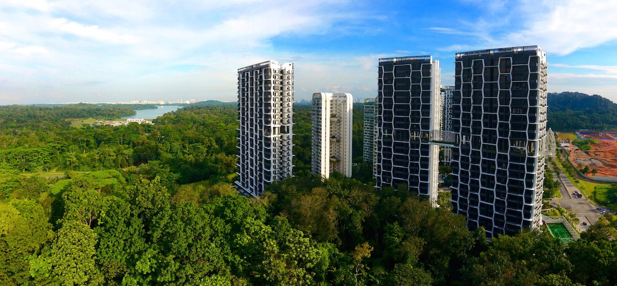 At Eco Sanctuary, residents can take in a nearly 270º view of the nearby parks and nature reserve at two viewing decks called The Belvederes - EDGEPROP SINGAPORE