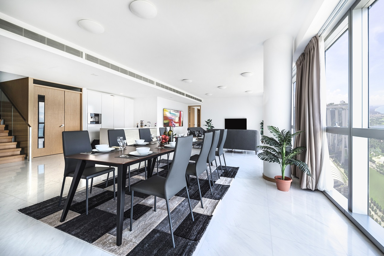 The living and dining area of the penthouse - EDGEPROP SINGAPORE