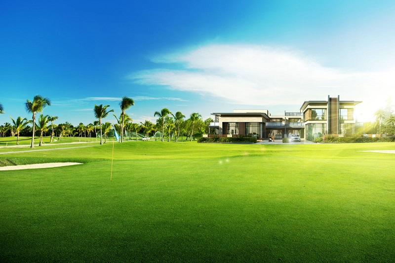 Artist's impression of a villa at Forest City Golf Resort