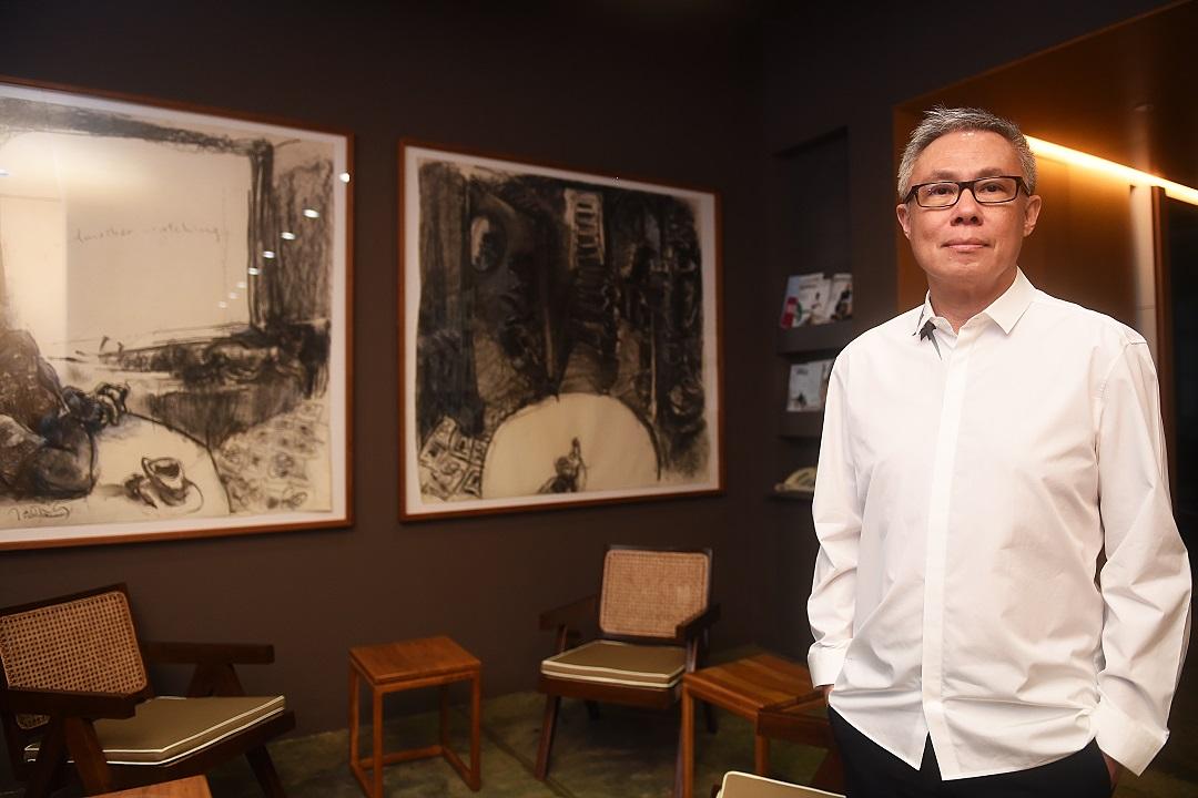 Medium shot of architect Mok Wei Wei of W Architects
