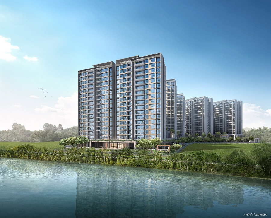 Artist's impression of the exterior of Rivercove Residences EC at Sengkang - EDGEPROP SINGAPORE